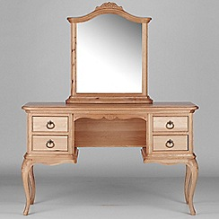Willis & Gambier - Oak 'Chateau' dressing table with mirror