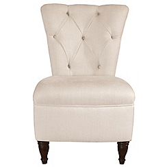 Debenhams - Ivory 'Chesterfield' chair