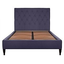Debenhams - Purple upholstered 'Chesterfield' bed frame