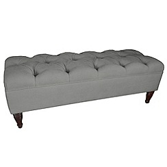 Debenhams - Grey 'Chesterfield' footstool