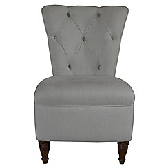 Debenhams - Grey 'Chesterfield' chair