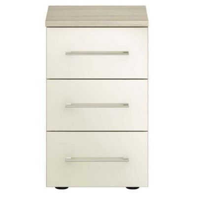 Magnolia Gloss Finish Ultra 3 Drawer Narrow Chest