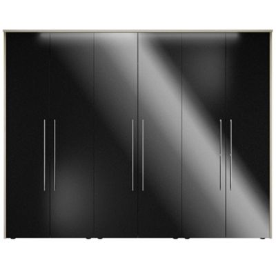 Consort Furniture Black gloss finish ´Ultra´ 6 door wardrobe - -