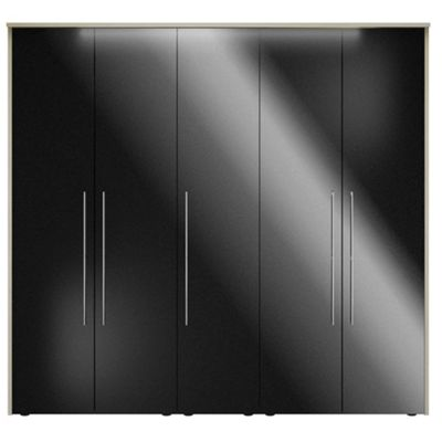Consort Furniture Black gloss finish ´Ultra´ 5 door wardrobe - -