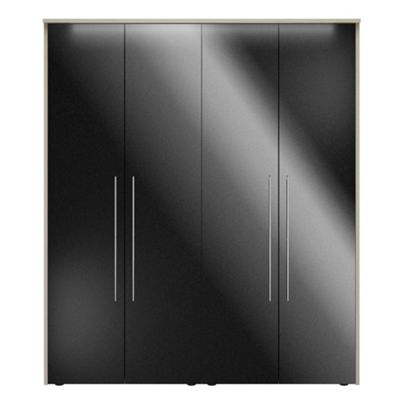 Consort Furniture Black gloss finish ´Ultra´ 4 door wardrobe - -