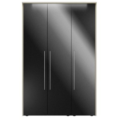 Consort Furniture Black gloss finish ´Ultra´ 3 door wardrobe - -