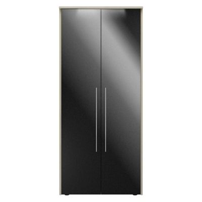 Consort Furniture Black gloss finish ´Ultra´ 2 door wardrobe - -