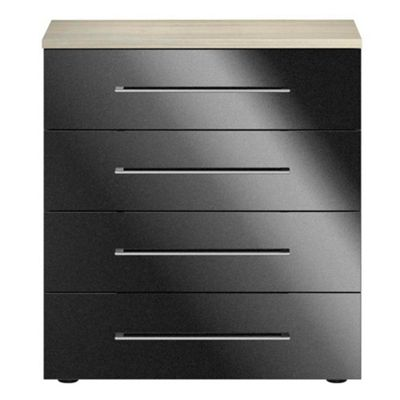 Consort Furniture Black gloss finish ´Ultra´ 4 drawer chest - -