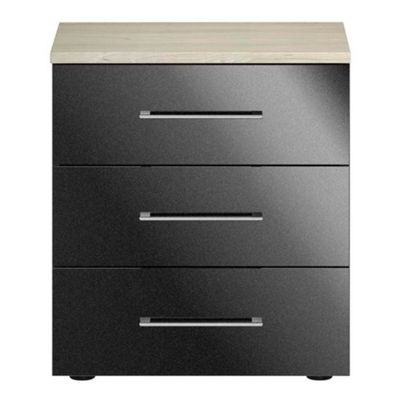 Consort Furniture Black gloss finish ´Ultra´ 3 drawer chest - -