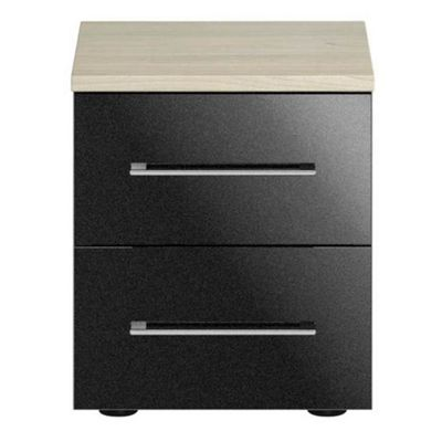 Consort Furniture Black gloss finish ´Ultra´ bedside cabinet - -
