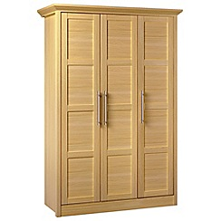 Consort Furniture - Oak finished 'Camara' triple wardrobe
