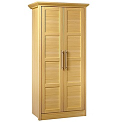 Consort Furniture - Oak finished 'Camara' double wardrobe