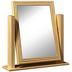 Consort Furniture - Oak finished 'Camara' vanity mirror