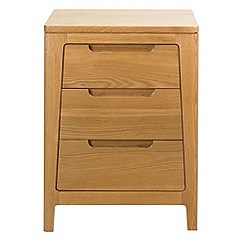 Debenhams - Oak finished 'Nord' bedside cabinet with 3 drawers