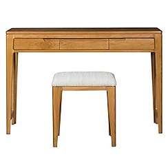Debenhams - Oak finished 'Nord' dressing table with stool