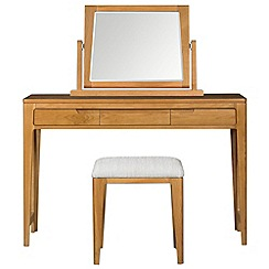 Debenhams - Oak finished 'Nord' dressing table with mirror and stool