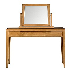 Debenhams - Oak finished 'Nord' dressing table with mirror
