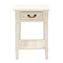 Willis & Gambier - White painted 'Florence' bedside cabinet with single drawer