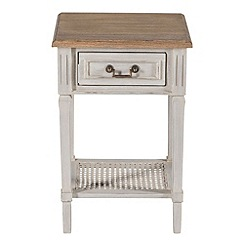 Willis & Gambier - Oak and painted 'Florence' bedside cabinet with single drawer