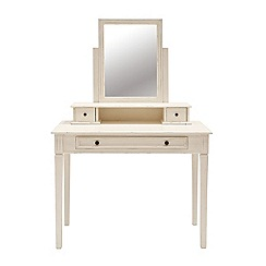 Willis & Gambier - White painted 'Florence' dressing table with mirror and stool