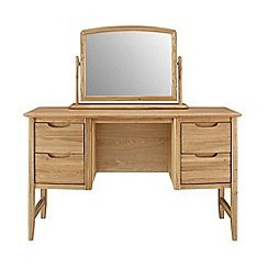 Willis & Gambier - Oak 'Willow' dressing table with mirror
