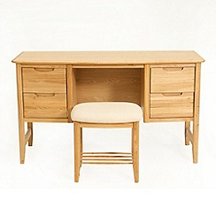 Willis & Gambier - Oak 'Willow' dressing table with stool