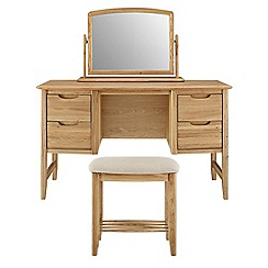 Willis & Gambier - Oak 'Willow' dressing table with mirror and stool