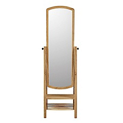 Willis & Gambier - Oak 'Willow' cheval mirror