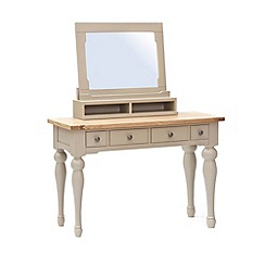 Willis & Gambier - Oak and painted 'Worcester' dressing table with mirror