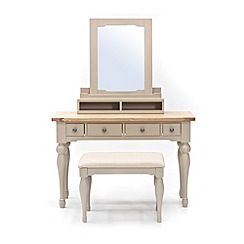 Willis & Gambier - Oak and painted 'Worcester' dressing table with mirror and stool