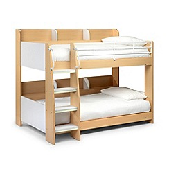 Julian Bowen Two-tone 'Domino' bunk bed with 'Platinum' mattresses