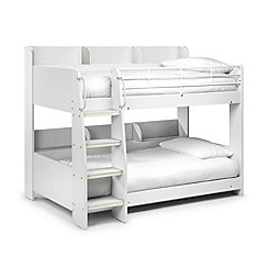 Julian Bowen - White 'Domino' bunk bed with 'Platinum' mattresses