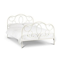 Debenhams - Soft white 'Arabella' bed with 'Premier' mattress