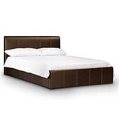 Debenhams - Brown upholstered 'Vienna' ottoman bed frame with 'Deluxe' mattress