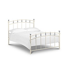 Debenhams - Soft white 'Sophie' bed with 'Deluxe' mattress