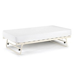 Julian Bowen - Off-white 'Etienne' guest bed with 'Premier' mattress