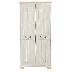 Debenhams - Cream 'Sheraton' double wardrobe