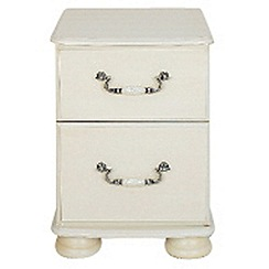 Debenhams - Cream 'Sheraton' bedside cabinet with 2 drawers