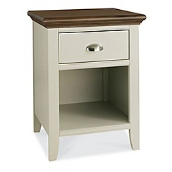 Debenhams - Walnut and painted 'Hampstead' bedside cabinet with single drawer
