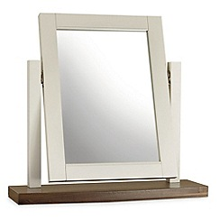 Debenhams - Walnut and painted 'Hampstead' vanity mirror