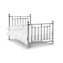 Debenhams - Chrome finished 'Empire' bed frame with 'Deluxe' mattress