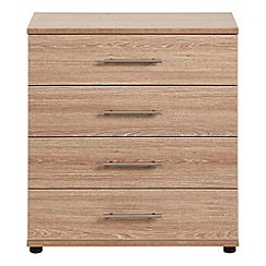 Debenhams - Dark oak effect 'Hazel' 4 drawer chest