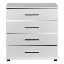 Debenhams - White 'Hazel' 4 drawer chest