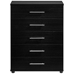 Debenhams - Black 'Hazel' 5 drawer chest