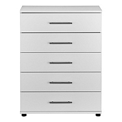 Debenhams - White 'Hazel' 5 drawer chest