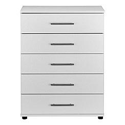 Debenhams - White 'Hazel' 5 drawer chest