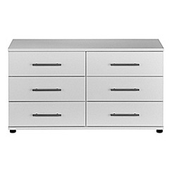 Debenhams - White 'Hazel' 6 drawer chest