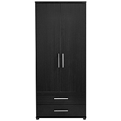 Debenhams - Black 'Hazel' double wardrobe with drawers