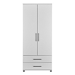 Debenhams - White 'Hazel' double wardrobe with drawers
