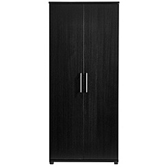 Debenhams - Black 'Hazel' double wardrobe